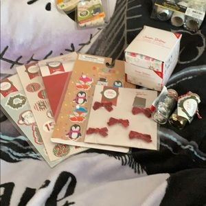 Christmas Stickers/Tags and Glitter
